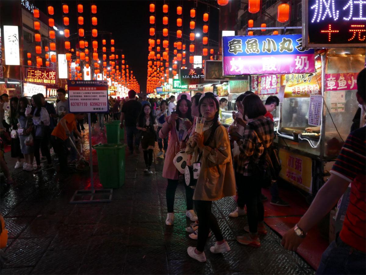 Nachtmarkt Luoyang
